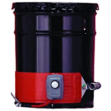BriskHeat ECONO15-1 ECONO Metal Drum Heater, Fits 15-Gallon Drums, 2-Layer Reinforced Silicone Rubber, W x L: 3.6 x 44-Inch, Diameter, 14-Inch, 120VAC