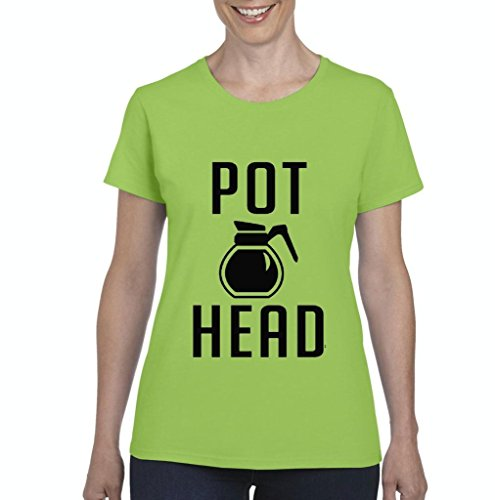 Xekia-Coffee-Pot-Head-Fashion-Womens-T-shirt-Tee-Clothes