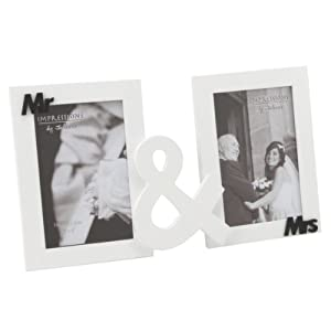 Mr & Mrs - Photo frame by Juliana white/Black MDF en BebeHogar.com