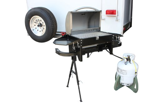 Party King Grills PKG-VJV-6412 RV SWING'N Smoke Grill Package, Includes Varsity Grill, Varsity Cradle, VERSArm LT Swing Arm and RV Bumper Brackets (Tailgate Grill Hitch compare prices)