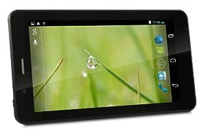 CONNECT A7 3G-U Tablette Tactile - 7 pouces HD pour écran capacitif (1024x600) , Android 4.2, 4 Go, Dual Core 1.2GHz processeur, 3G & téléphone, Dual SIM, double caméra, GPS , WIFI Tablet PC, vidéo HD , Bluetooth (Noir)