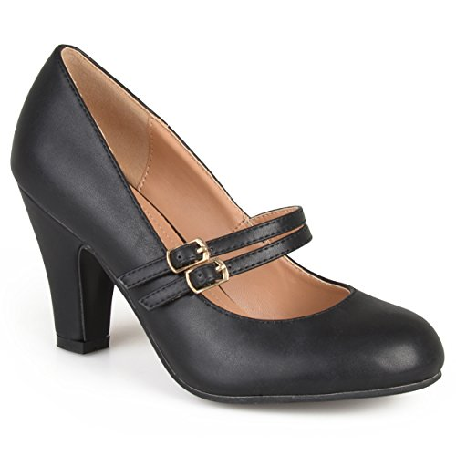 Journee Collection Womens Matte Finish Classic Mary Jane Pumps Black 10