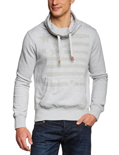 Tommy Hilfiger Hartford Funnel Hknit Longsleeves Men's Jumper Light Grey Heather Large
