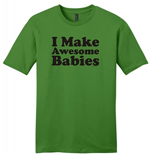I Make Awesome Babies Young Mens T-Shirt Small Kiwi Green front-1033961