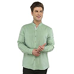 Attila Men's Casual Shirt (2206495616_Green_40)