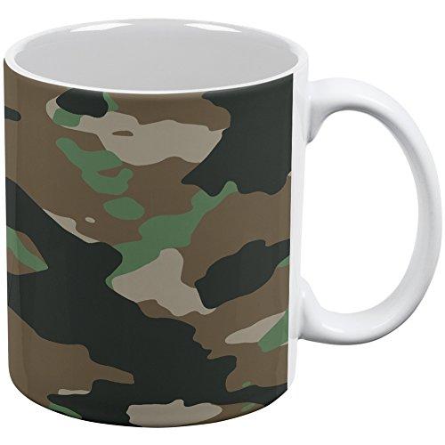 Jungle Camo White All Over Coffee Mug (Camouflage Coffee Mug compare prices)