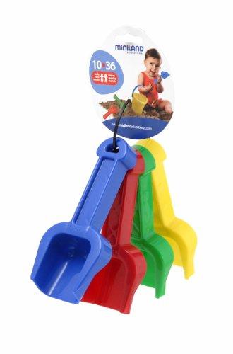 "Miniland Baby Shovels, 5 1/4"", Set of 4 Assorted Colors"