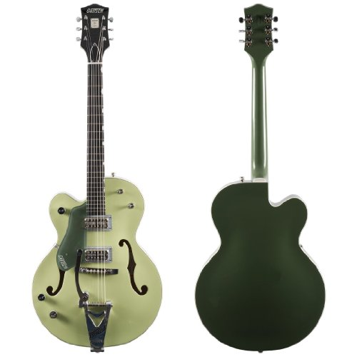 Gretsch G6118T Anniversary Electric Guitar With Bigsby, Left Handed - Two-Tone Smoke Green