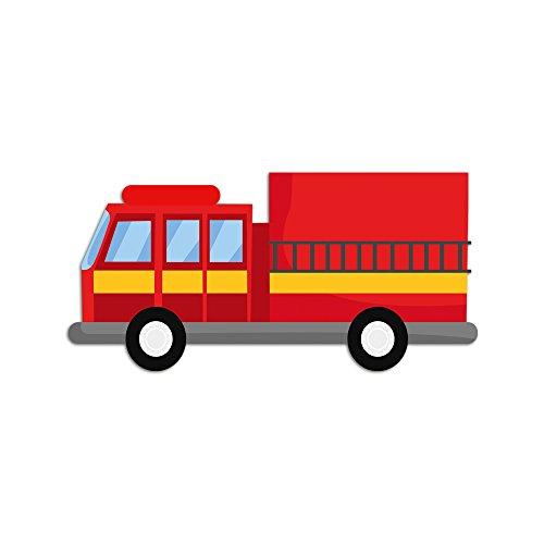 Feuerwehrauto m belsticker aufkleber f r das for Wandsticker jungs