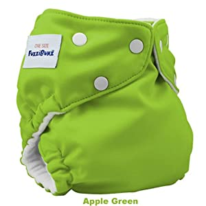 FuzziBunz One Size Cloth Diaper, Apple Green