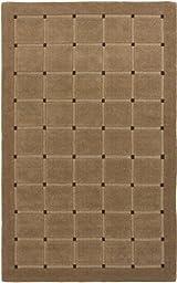 eCarpetGallery Handmade Mezzo 5-Feet 0-Inch by 8-Feet 0-Inch Wool Rug, Khaki