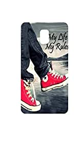 Letz Dezine My Life My Rules Design Printed Mobile Back Case Cover for Reliance Jio Lyf Water 10