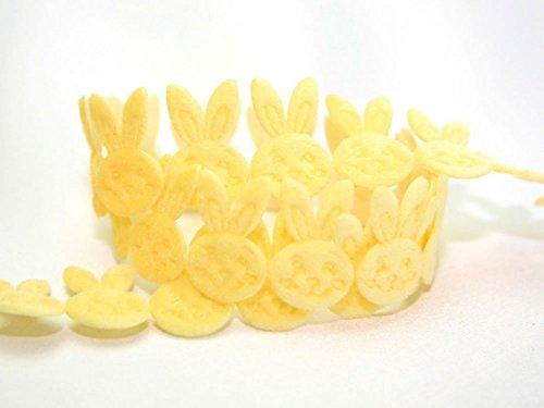 Citron de Pâques en forme de lapin de Pâques en forme de découpe au mètre