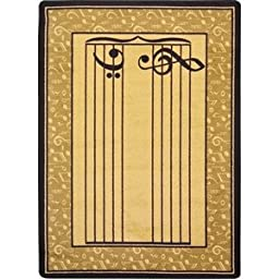 Joy Carpets Kid Essentials Music & Special Needs Fully Staffed Rug, Sand, 3\'10\