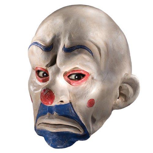 Batman The Dark Knight Adult Joker Latex Clown Mask, White, One Size