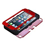 MyBat Titanium Red/Black TUFF Hybrid Protector Cover for iPod touch 5