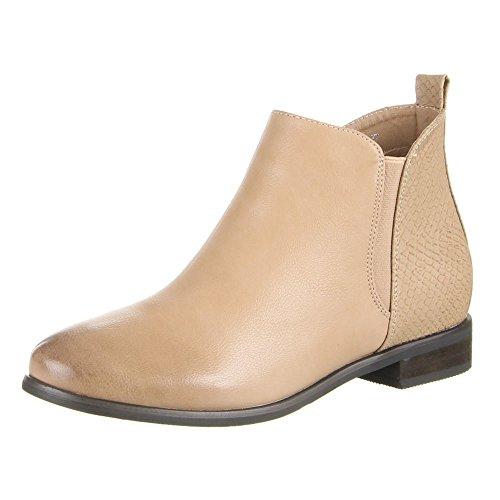 Ital-Design - Stivali Chelsea Donna , Beige (beige), 40