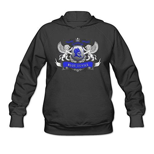 Lydc Women's Duke Blue Devils Cool Logo Icon Champion Hoodie Black L