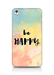 AMEZ be happy Back Cover For HTC Desire 816