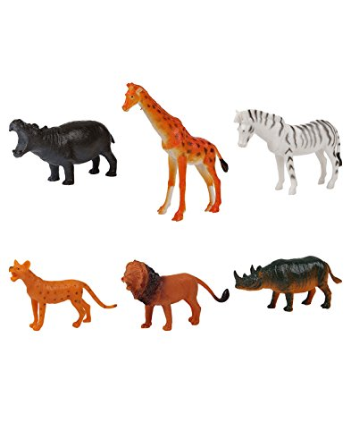 TommyChew Small Wild Animals Dog Toys (Pack Of 6)