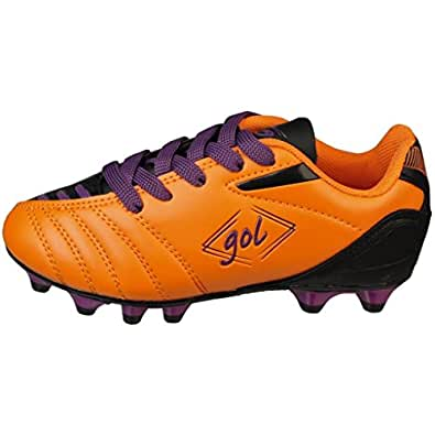 Amazon.com: Gol Boys Orange/Purple Soccer Shoes (Big Kid): Shoes