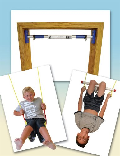 Indoor Trapeze Bar And Swing Set For Kids - Perfect Rainy Day Activity front-832096