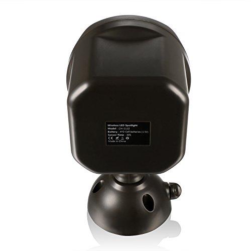 Coocheer Spotlight LED à Détecteur de Mouvement et Photoélectrique (Sans Fil, 600 lumens, Portée 7m, Capteur 120 degrés)Ampoules LED