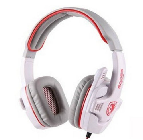Afunta Sades Stereo Headset Headband Sa-708 Game Earphone Bass Headphones With Microphone (White)