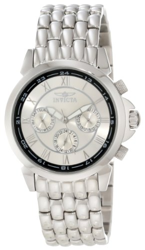 Invicta Men's 2875 Silver Stainless-Steel Swiss Quartz Watch with Silver Dial