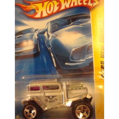 Hot Wheels : 2008 New Models : Bad Mudder 2 Silver & Chrome Heavy Diecast Red Glass 5 Spoke 1/64 (20 of 40 - 020/196) - 1