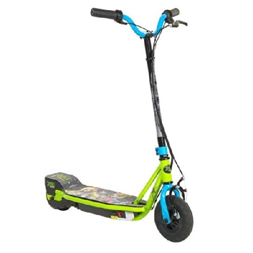 Dynacraft Zombie 24V Su Electric Scooter, Black/Green/Blue