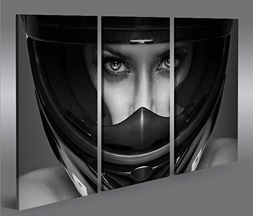 quadri-moderni-frau-mit-motorrad-helm-3p-stampa-su-tela-quadro-x-poltrone-salotto-cucina-mobili-uffi