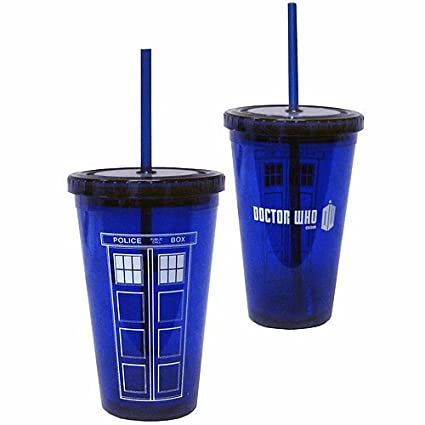 Doctor Who TARDIS Acrylic Cup with Straw