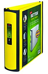 Staples 2 Inch Better View Binder with D-Rings (Yellow)