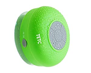 Waterproof Wireless Bluetooth Shower Speaker Handsfree Speakerphone Compatible with All Bluetooth Devices Iphone 8s and All Android Devices by TETC