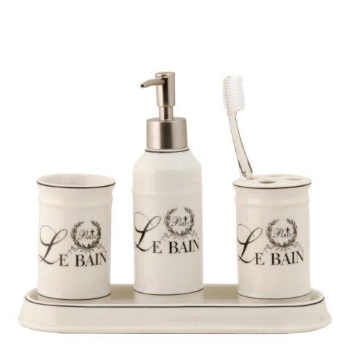Clayre & Eef Le Bain Badezimmer Set, 4-teilig
