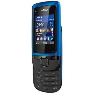 "Nokia C2-05 Slider Téléphone portable Écran 5,1 cm (2"") Appareil photo VGA Bleu (import europe)"