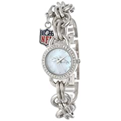 Game Time Ladies NFL-CHM-DEN Charm NFL Series Denver Broncos 3-Hand Analog Watch by Game Time