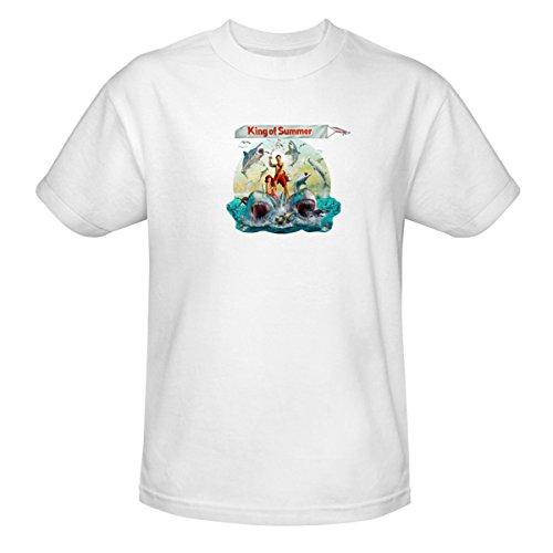 Shark Week King Of Summer Banner Unisex T-Shirt - White White Large front-90975