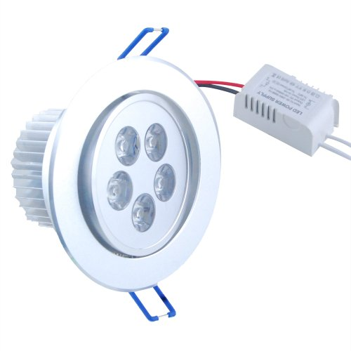 Thg 5W 5 Led 500Lm Warm White Round Recessed Roof Ceiling Cabinet Light Lamp Bulb Downlight 100V - 240V+ Led Driver