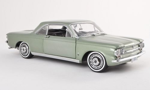 Chevrolet Corvair Coupe, metallic-green, 1963, Model Car, Ready-made, Sun star 1:18 by Chevrolet (Corvair Model compare prices)