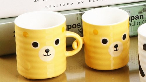 Moyishi 300Ml Happy Lovely Bear Family Coffee Milk Ceramic Mug Cup Christmas Birthday Best Gift