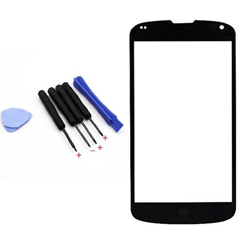 Touch Screen Digitizer Glass Lens Repair Part For Lg Google Nexus 4 E960 + Tools