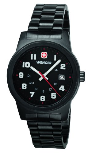 Wenger Men's Classic Watch - Black/Grey, One Size