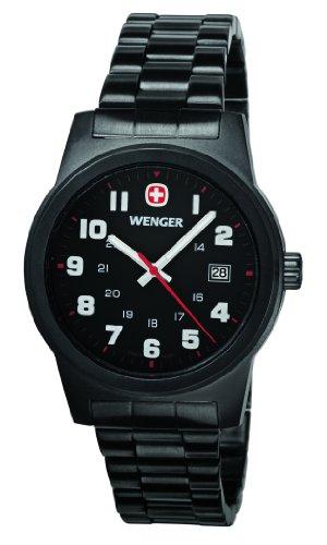 Wenger Herren-Armbanduhr XL Field Classic Analog Quarz Edelstahl beschichtet 01.0441.102