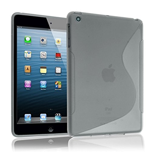 Gris-S-Line-Wave-Coque-arrire-en-gel-TPU-souple-pour-Apple-iPad-Air-2-iPad-6