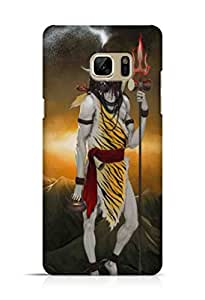 Cover Affair Lord Shiv / Shiva Printed Back Cover Case for Samsung Galaxy Note 7