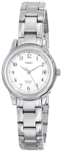 Timex Women'S T29271 Elevated Classics Dress Sport Chic Silver-Tone Bracelet Watch front-986609