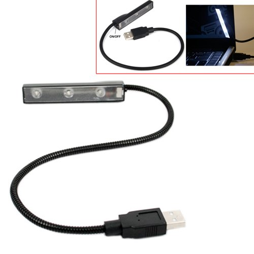 Portable USB LED Flexible Work Light for Laptops/Notebooks