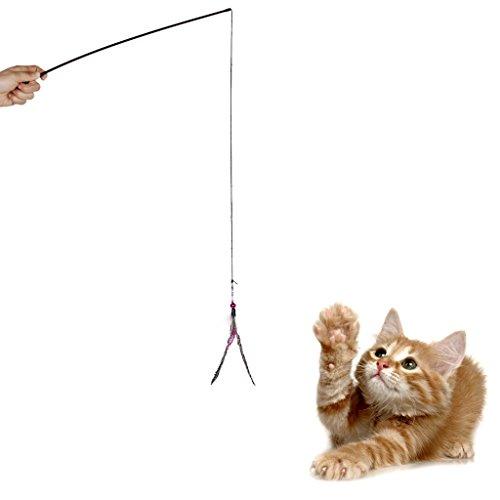 Pet-Kitten-Cat-Toy-Dangler-Rod-Roped-Teaser-Toy-w-Bell